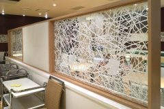 Washi Wall Panels and Partitions For a Restaurant